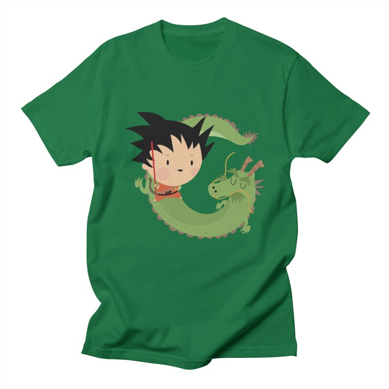 G is for Goku in Men's T-Shirt Kelly Green by Maria Jose Da Luz