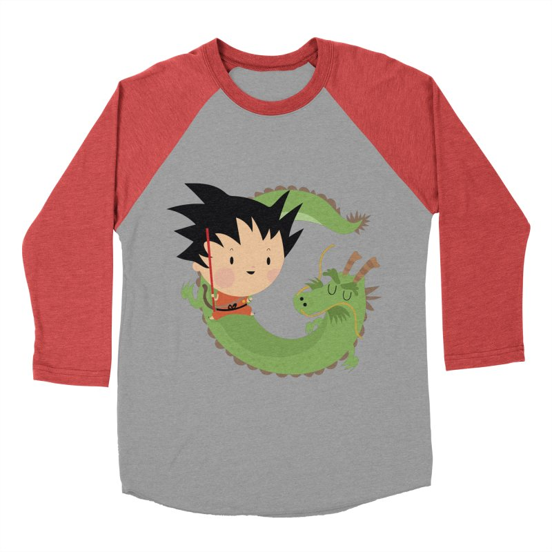 G is for Goku Men's Baseball Triblend T-Shirt by Maria Jose Da Luz
