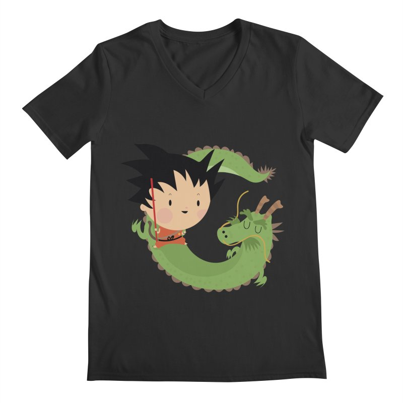 G is for Goku Men's V-Neck by Maria Jose Da Luz