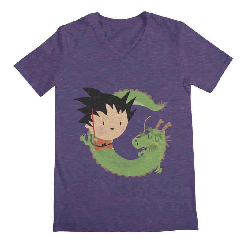 G is for Goku Men's V-Neck by Maria Jose Da Luz