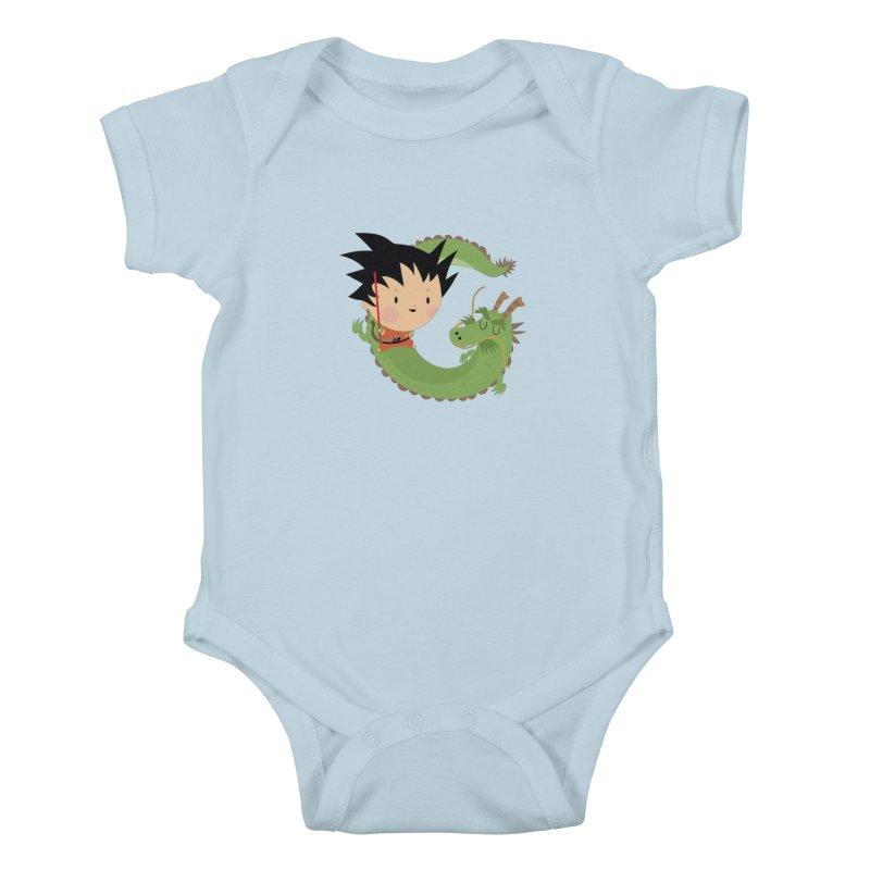 G is for Goku Kids Baby Bodysuit by Maria Jose Da Luz
