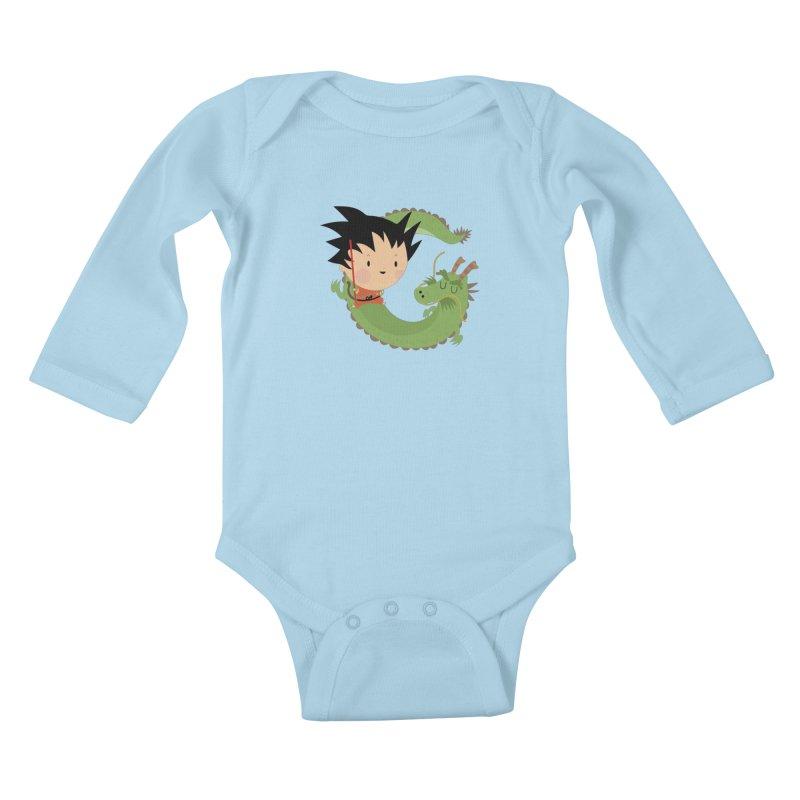 G is for Goku Kids Baby Longsleeve Bodysuit by Maria Jose Da Luz