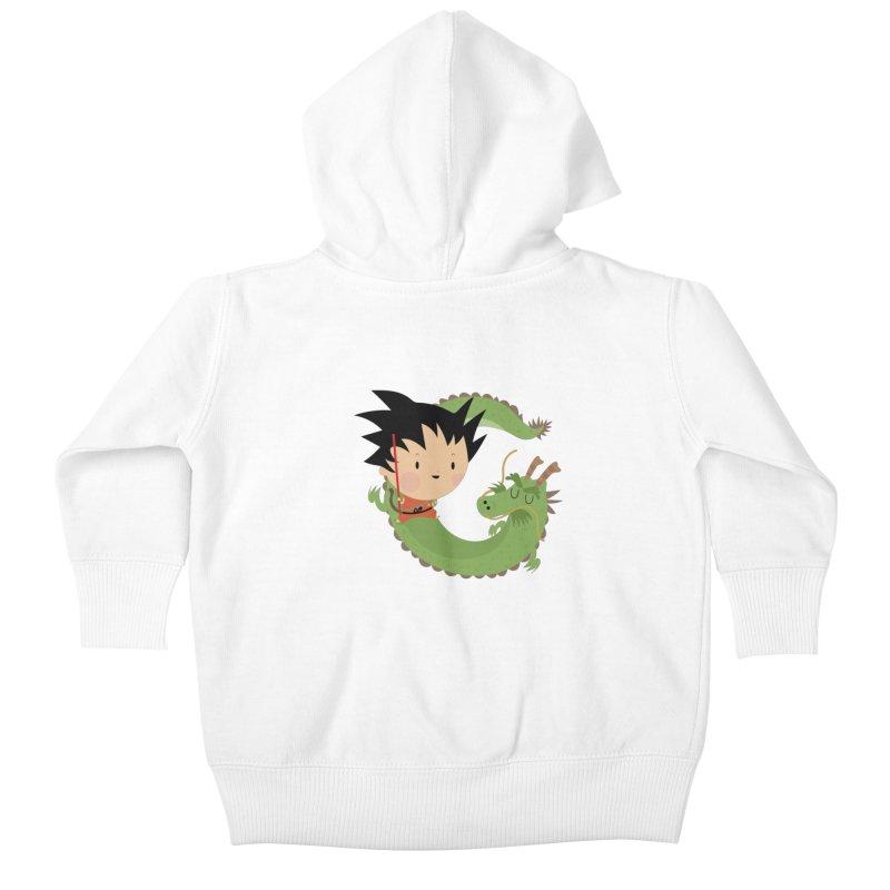 G is for Goku Kids Baby Zip-Up Hoody by Maria Jose Da Luz