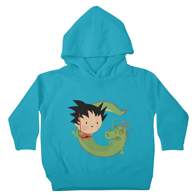 G is for Goku Kids Toddler Pullover Hoody by Maria Jose Da Luz