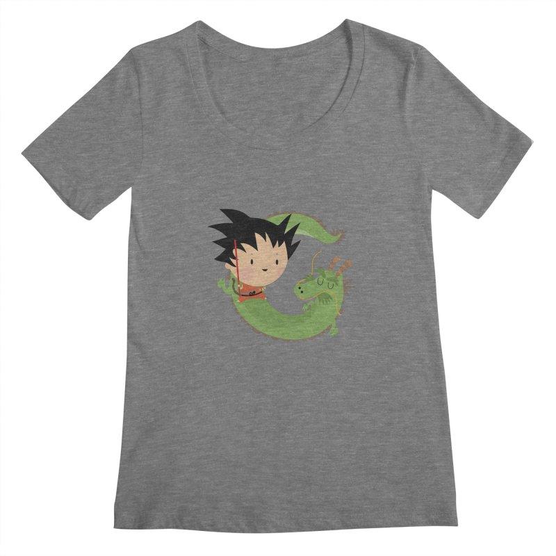 G is for Goku Women's Scoopneck by Maria Jose Da Luz