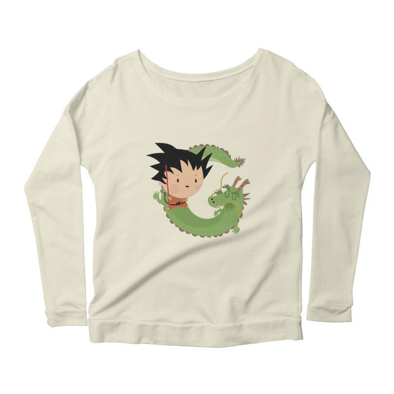 G is for Goku Women's Longsleeve Scoopneck  by Maria Jose Da Luz