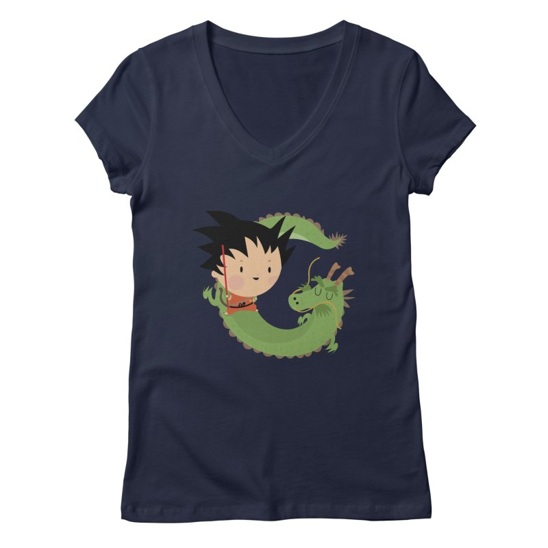 G is for Goku Women's V-Neck by Maria Jose Da Luz
