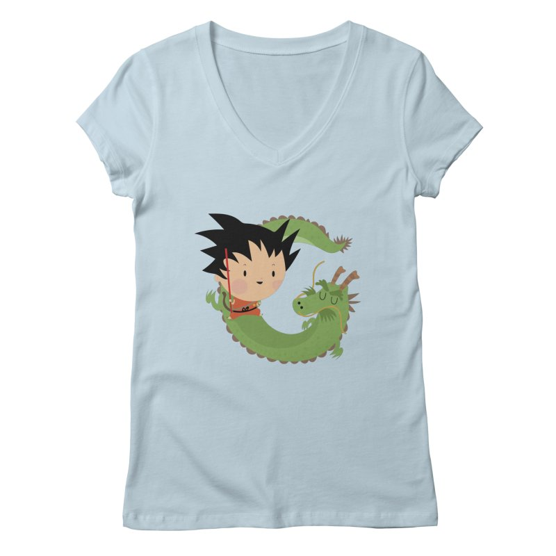 G is for Goku Women's V-Neck by Maria Jose Da Luz