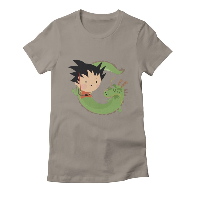 G is for Goku Women's Fitted T-Shirt by Maria Jose Da Luz