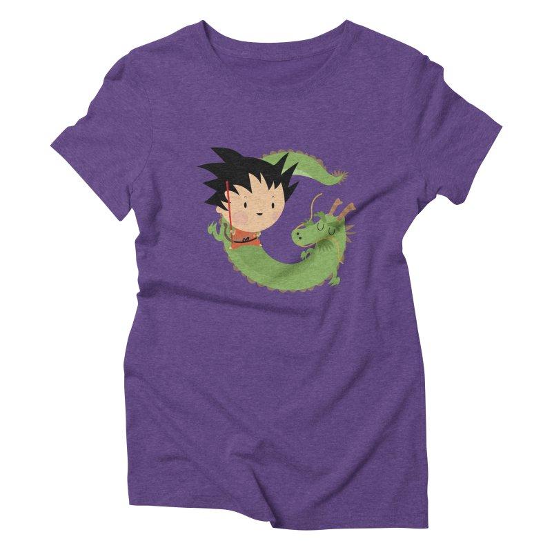 G is for Goku Women's Triblend T-shirt by Maria Jose Da Luz