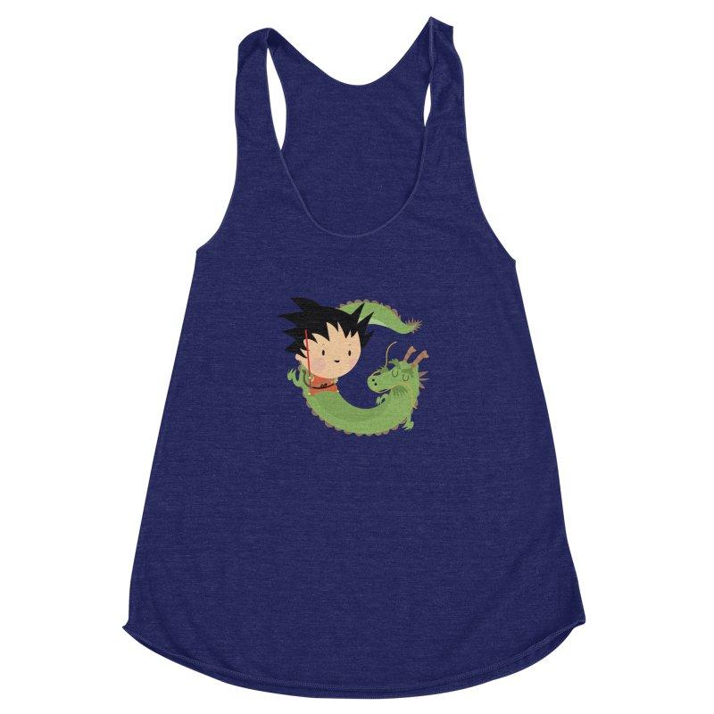 G is for Goku Women's Racerback Triblend Tank by Maria Jose Da Luz
