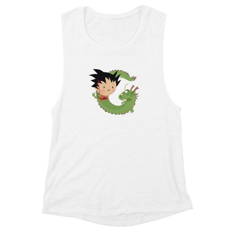 G is for Goku Women's Muscle Tank by Maria Jose Da Luz