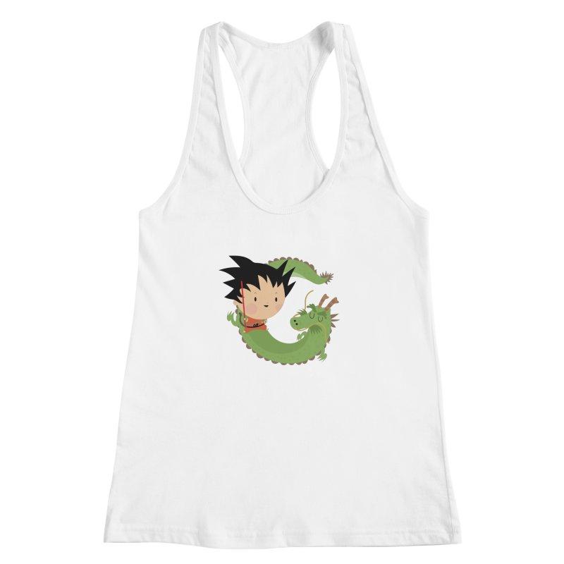 G is for Goku Women's Racerback Tank by Maria Jose Da Luz