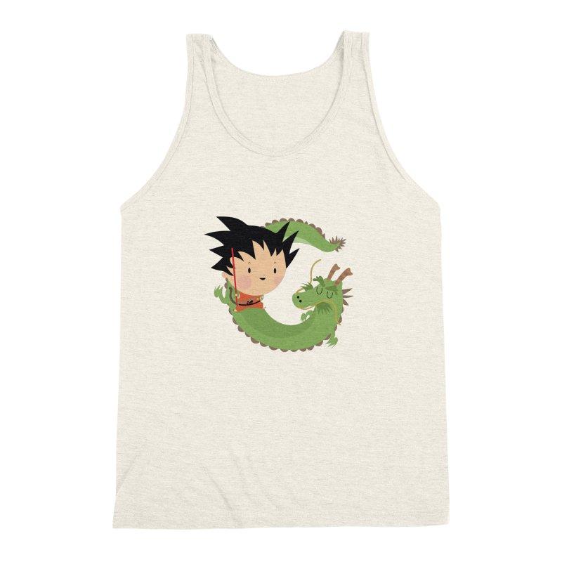 G is for Goku Men's Triblend Tank by Maria Jose Da Luz