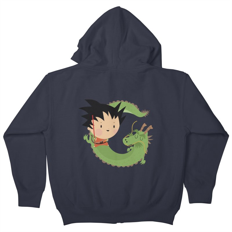 G is for Goku Kids Zip-Up Hoody by Maria Jose Da Luz