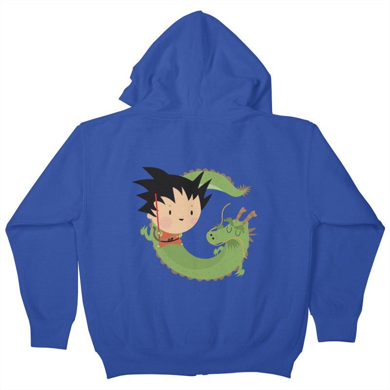 G is for Goku Kids Zip-Up Hoody by Maria Jose Da Luz