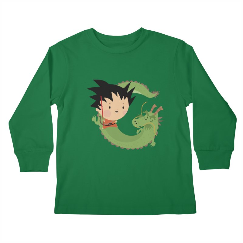G is for Goku Kids Longsleeve T-Shirt by Maria Jose Da Luz