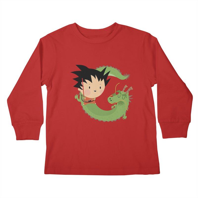 G is for Goku Kids Longsleeve T-Shirt by Maria Jose Da Luz