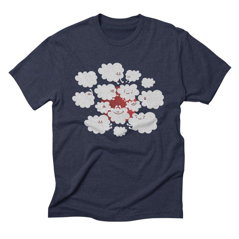 Red Moon Men's Triblend T-Shirt by Maria Jose Da Luz