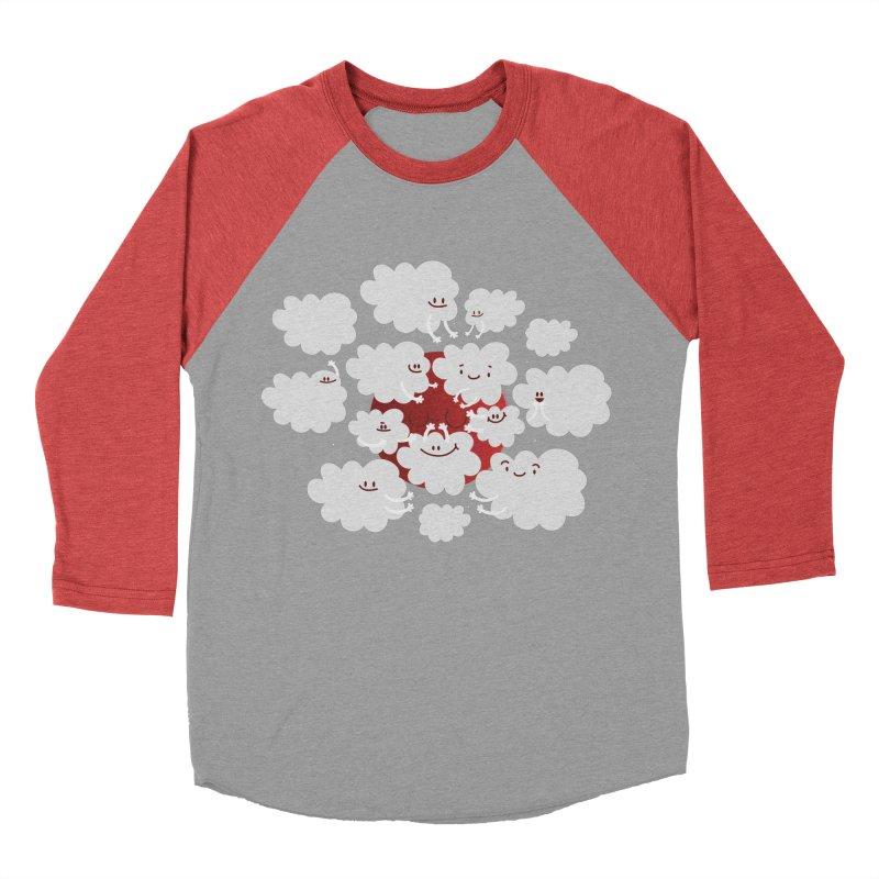 Red Moon Women's Baseball Triblend T-Shirt by Maria Jose Da Luz