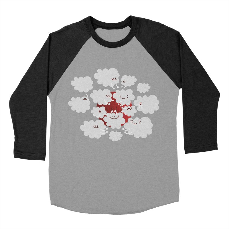 Red Moon Men's Baseball Triblend T-Shirt by Maria Jose Da Luz