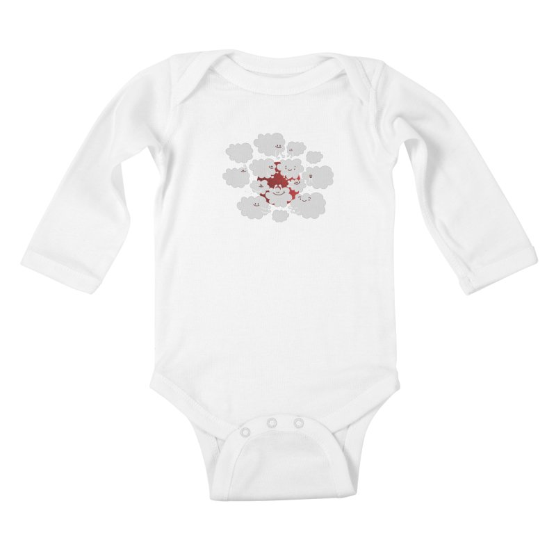 Red Moon Kids Baby Longsleeve Bodysuit by Maria Jose Da Luz