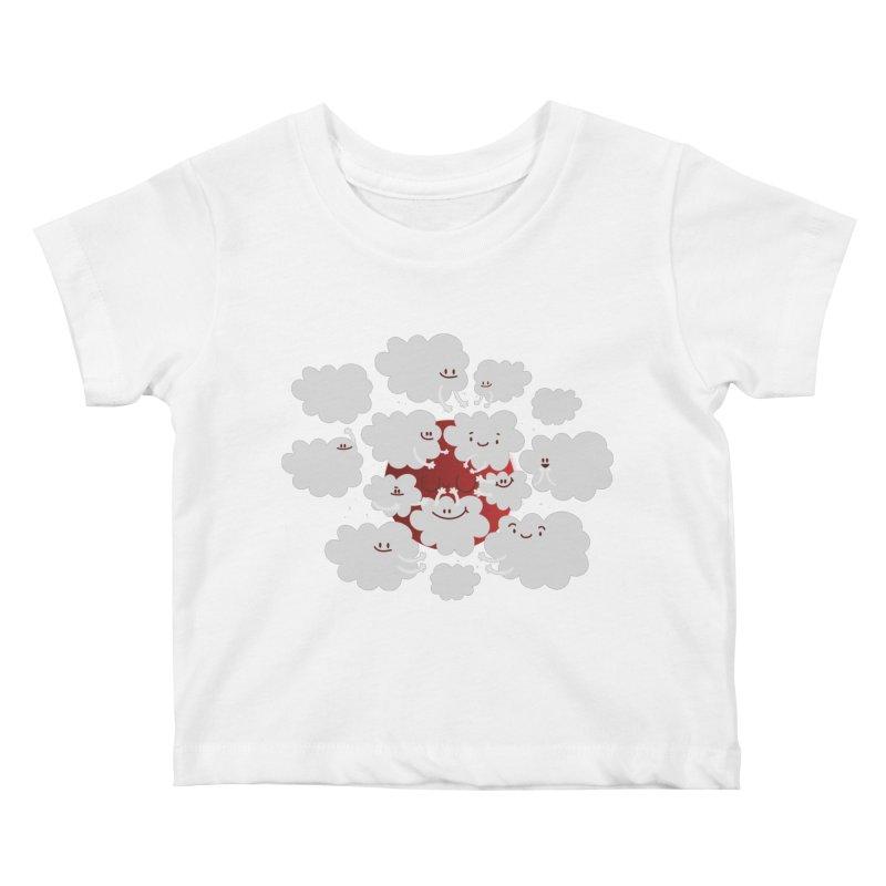 Red Moon Kids Baby T-Shirt by Maria Jose Da Luz