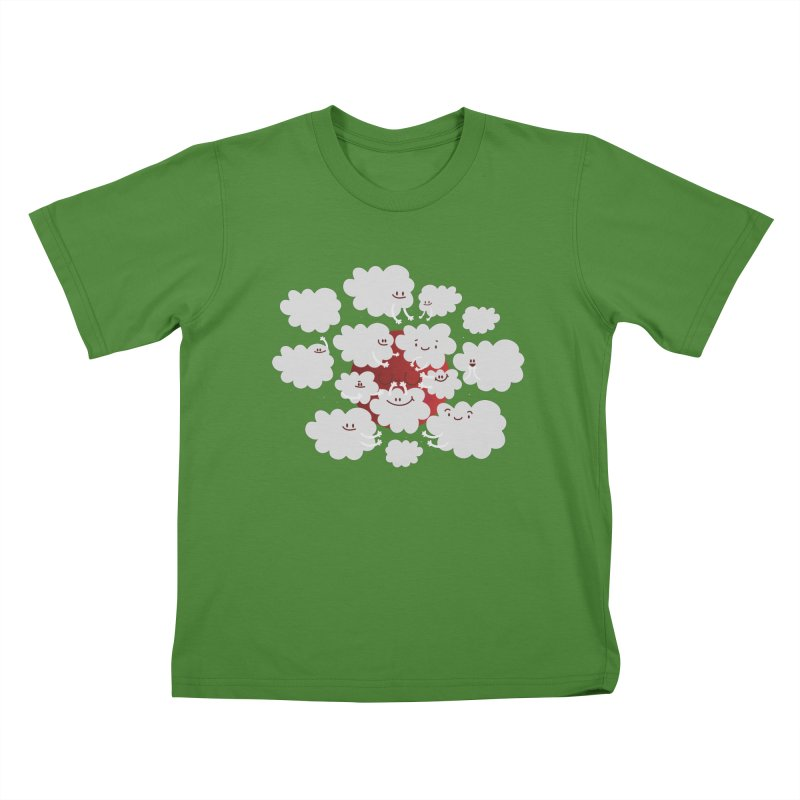 Red Moon Kids T-Shirt by Maria Jose Da Luz