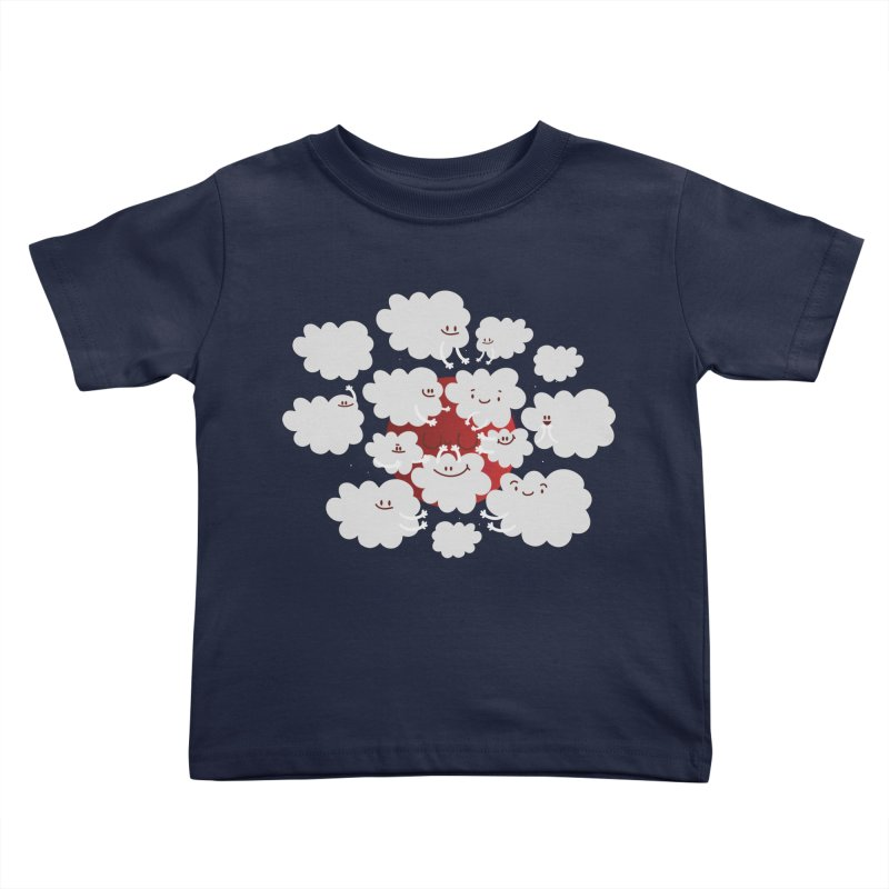 Red Moon in Kids Toddler T-Shirt Navy by Maria Jose Da Luz