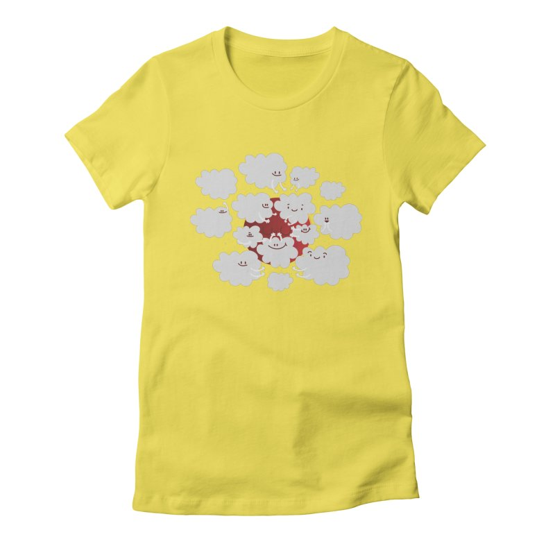 Red Moon Women's Fitted T-Shirt by Maria Jose Da Luz