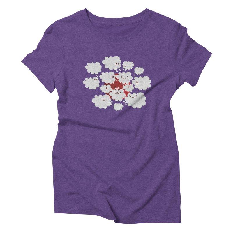 Red Moon Women's Triblend T-shirt by Maria Jose Da Luz