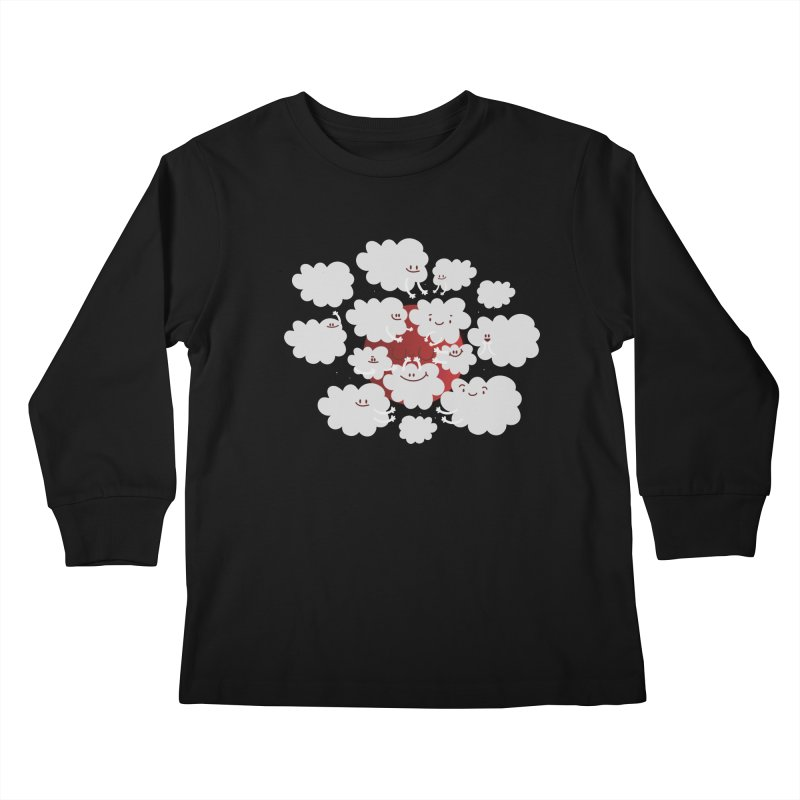 Red Moon Kids Longsleeve T-Shirt by Maria Jose Da Luz