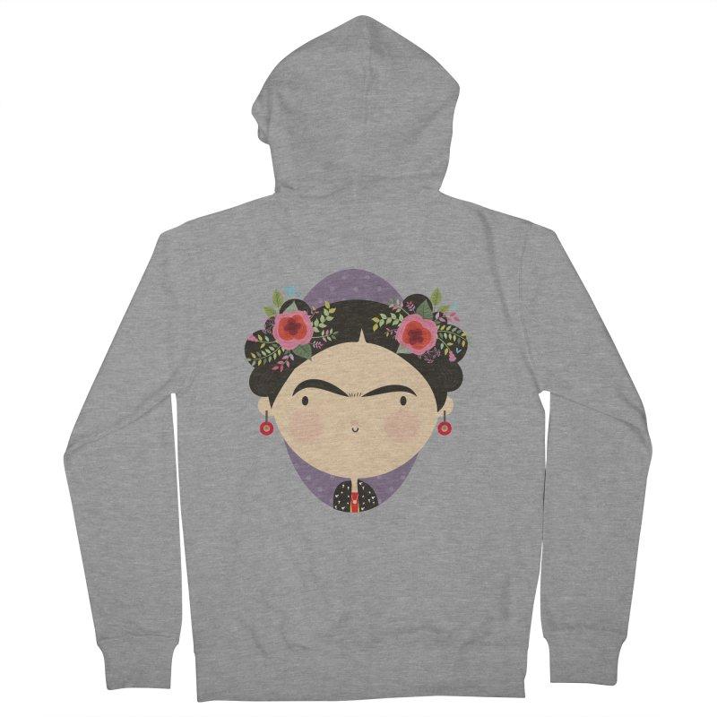 Frida Men's Zip-Up Hoody by Maria Jose Da Luz