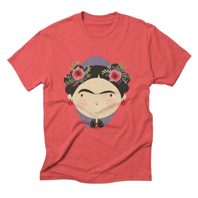 Frida Men's Triblend T-Shirt by Maria Jose Da Luz