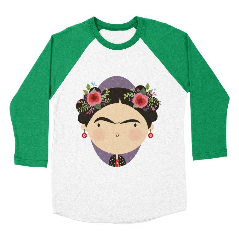 Frida Men's Baseball Triblend T-Shirt by Maria Jose Da Luz