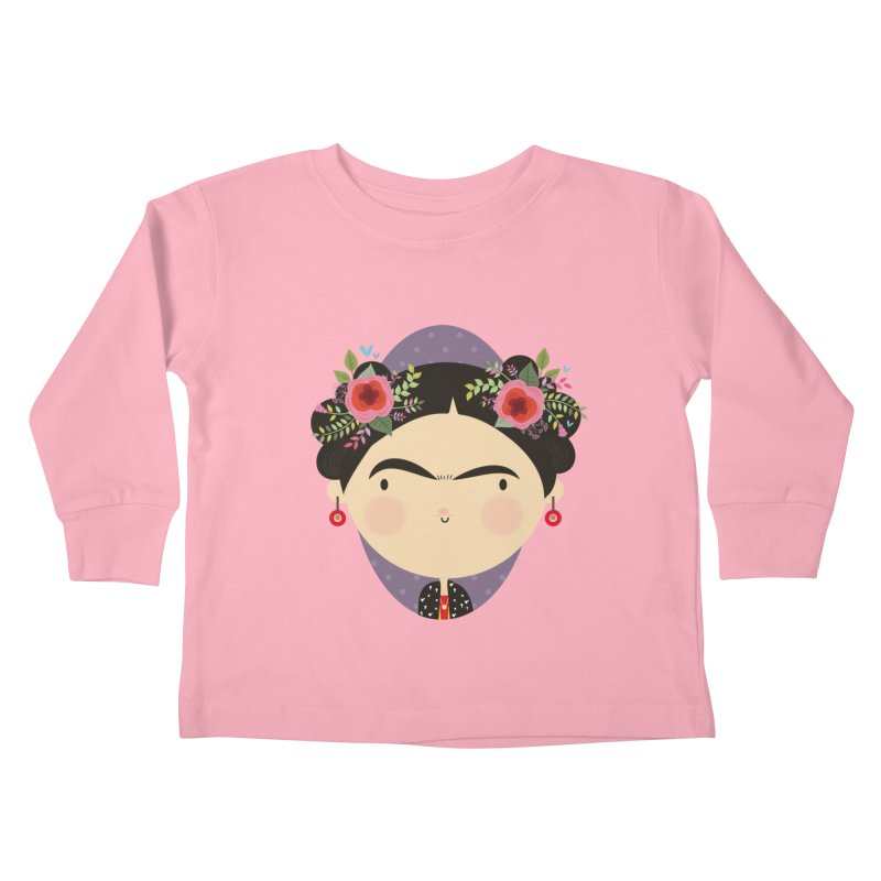 Frida Kids Toddler Longsleeve T-Shirt by Maria Jose Da Luz