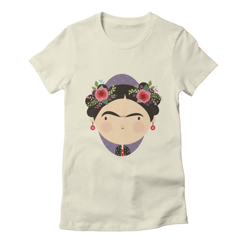 Frida Women's Fitted T-Shirt by Maria Jose Da Luz