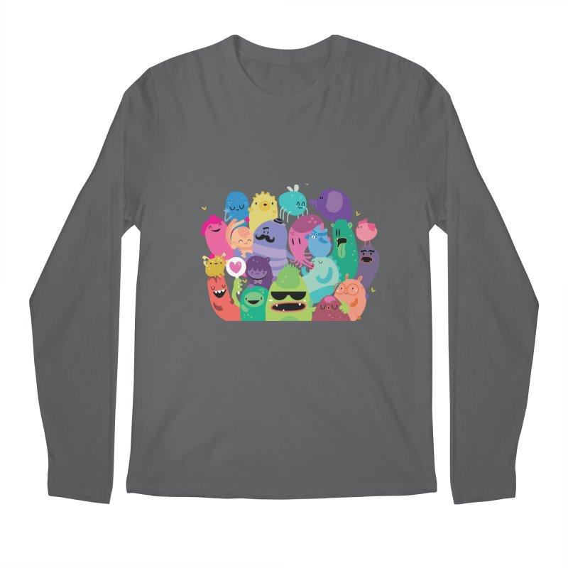 Monster reunion Men's Longsleeve T-Shirt by Maria Jose Da Luz