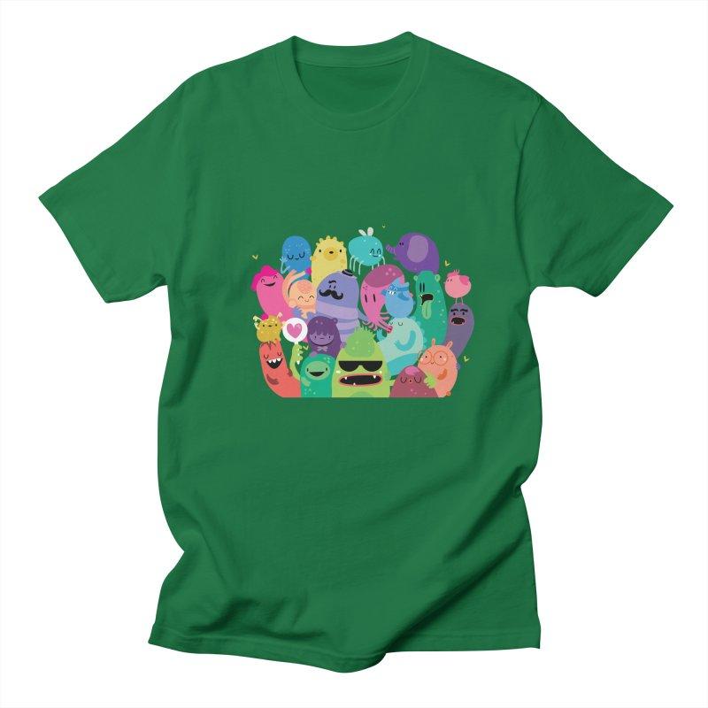 Monster reunion Men's T-Shirt by Maria Jose Da Luz