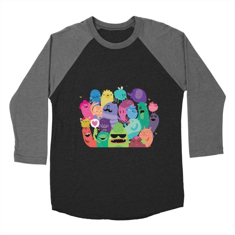 Monster reunion Women's Baseball Triblend T-Shirt by Maria Jose Da Luz