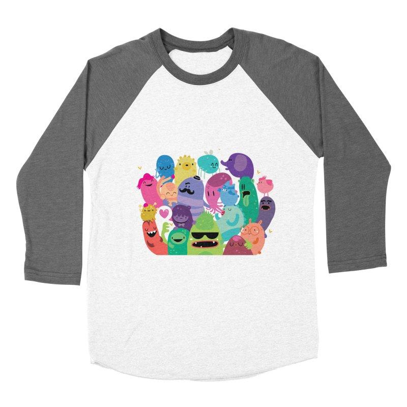 Monster reunion Men's Baseball Triblend T-Shirt by Maria Jose Da Luz