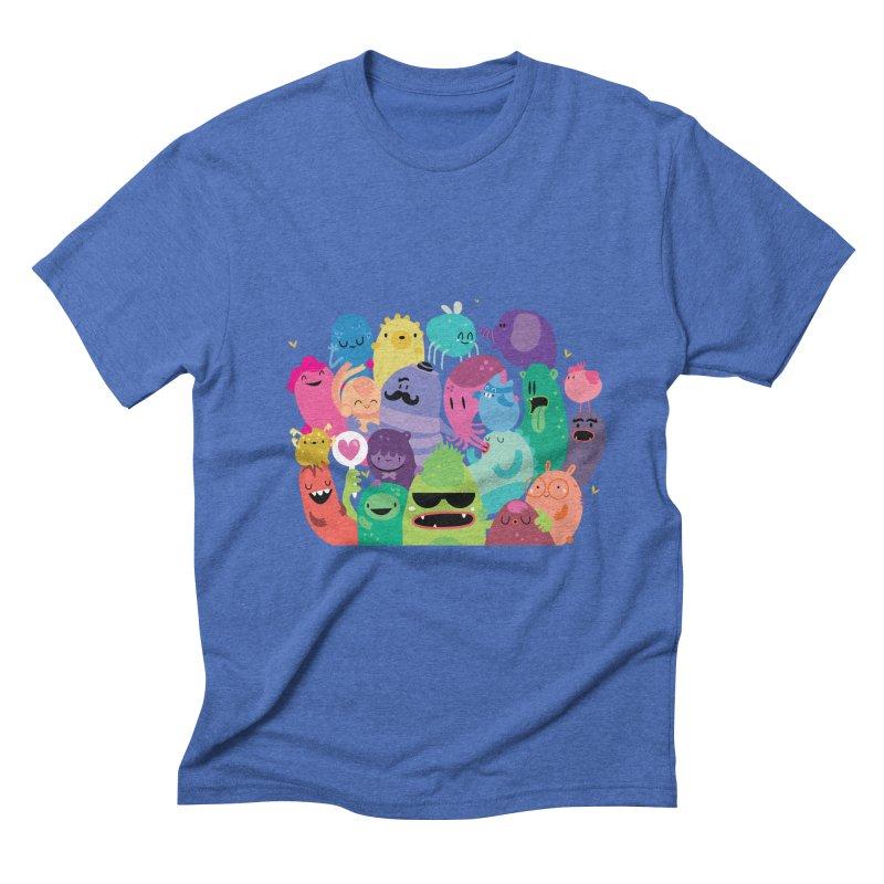 Monster reunion Men's Triblend T-shirt by Maria Jose Da Luz