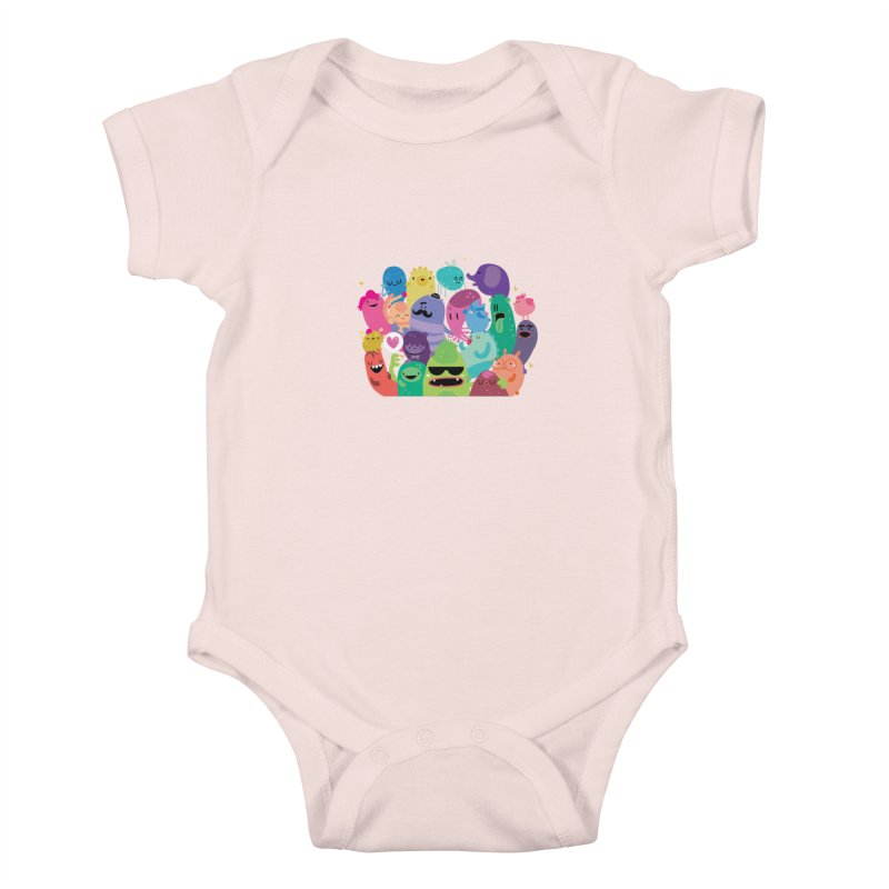 Monster reunion Kids Baby Bodysuit by Maria Jose Da Luz