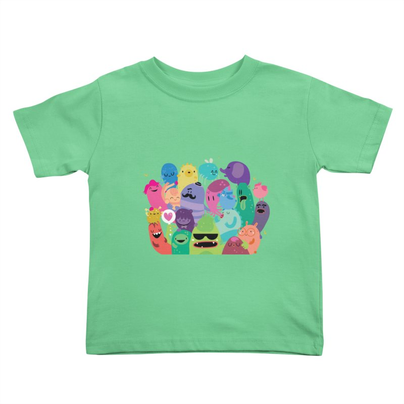 Monster reunion Kids Toddler T-Shirt by Maria Jose Da Luz