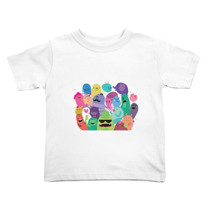 Monster reunion Kids Toddler T-Shirt by Maria Jose Da Luz