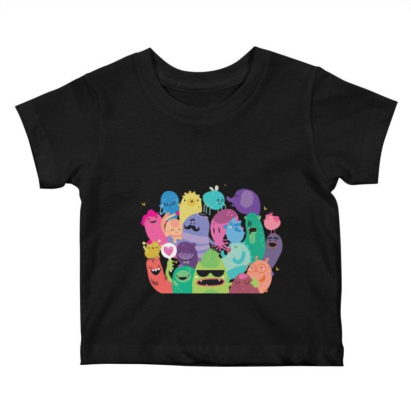 Monster reunion Kids Baby T-Shirt by Maria Jose Da Luz