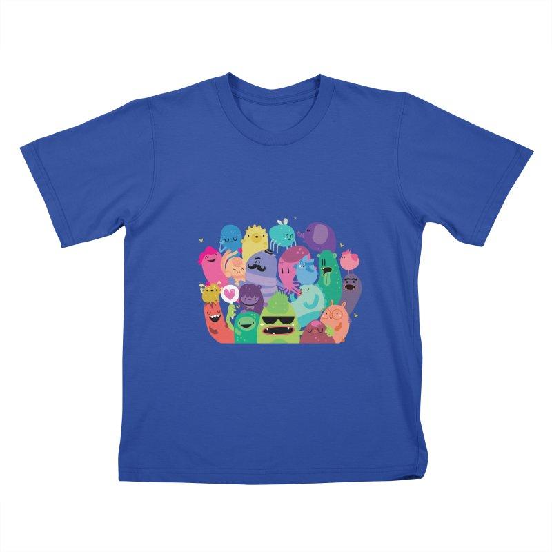 Monster reunion Kids T-shirt by Maria Jose Da Luz