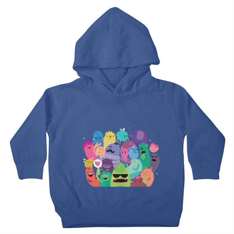 Monster reunion in Kids Toddler Pullover Hoody Heather Royal by Maria Jose Da Luz