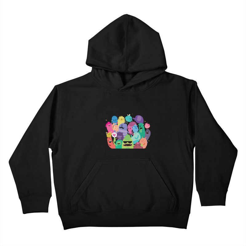 Monster reunion Kids Pullover Hoody by Maria Jose Da Luz