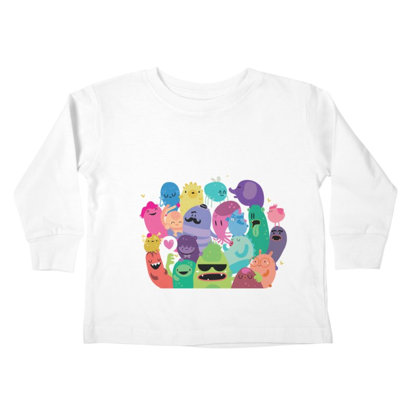 Monster reunion Kids Toddler Longsleeve T-Shirt by Maria Jose Da Luz